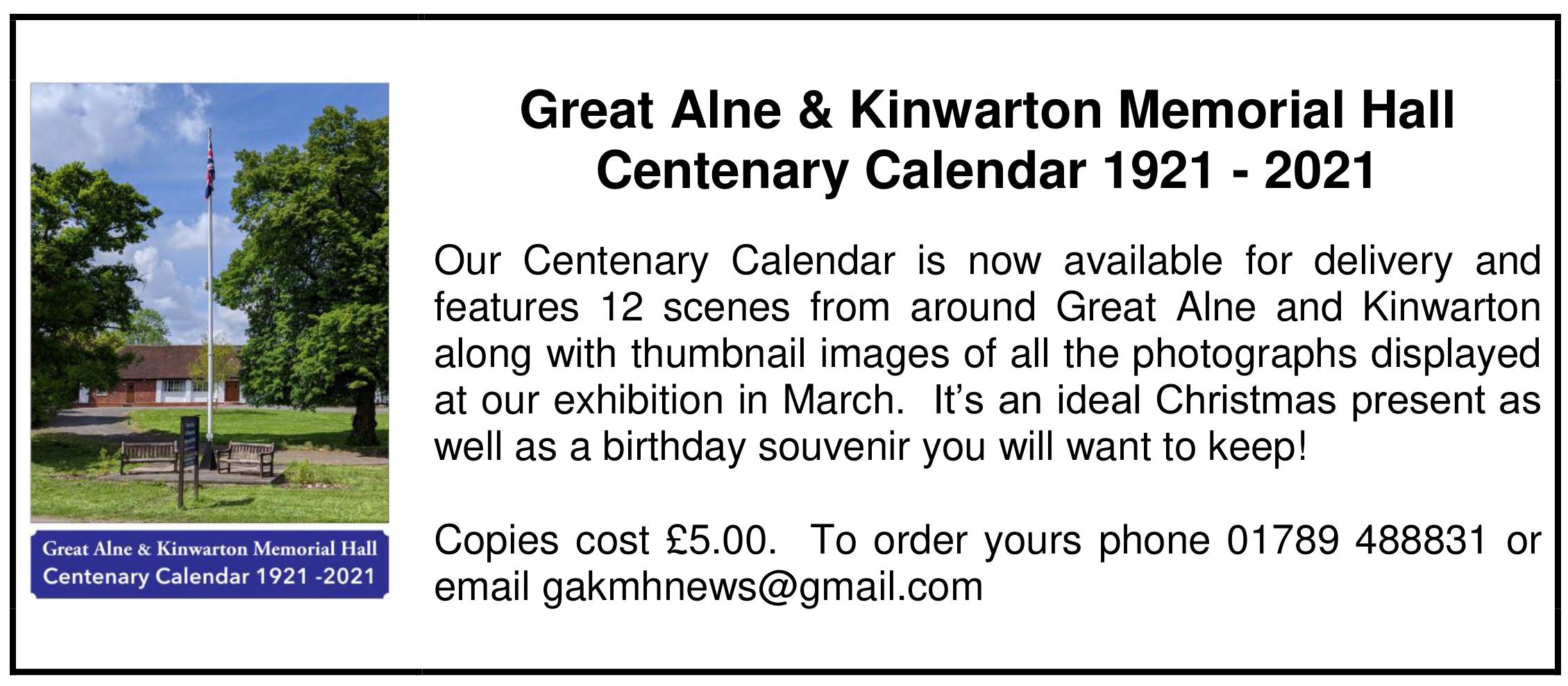 Centenary Calendar Ad